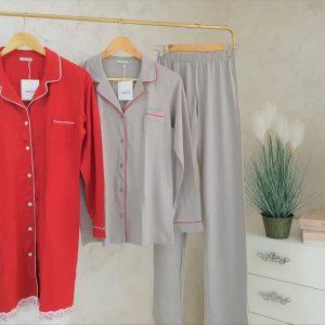 Pyjamas Rouge et Gris